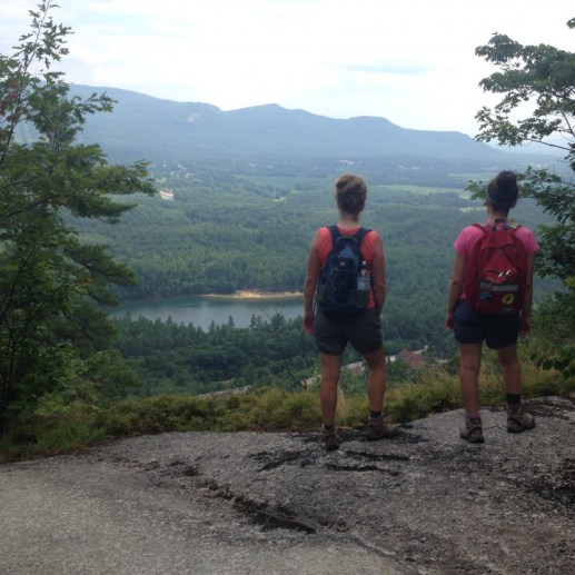 Pausing to take in the view during a summer hike.