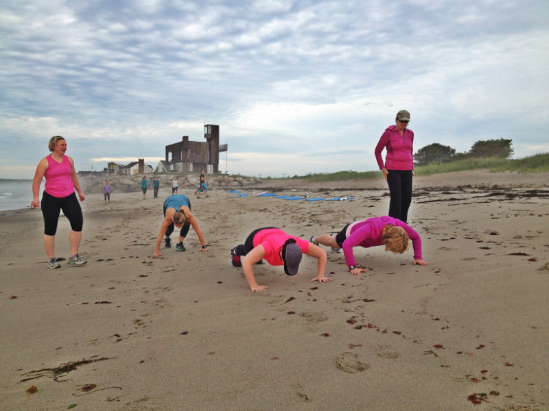 Pushups just feel better when you're staring at sand. Shannon Bryan photo