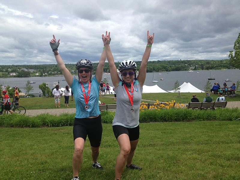 The finish line of the Trek Across Maine 2014. Shannon Bryan photo