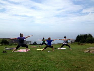 Yoga on Monhegan Island with Monhegan Wellness. Shannon Bryan photo