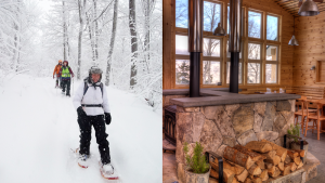 1-Hut Guided Snowshoe Overnight at Maine Huts & Trails @ Stratton Brook Hut | Kingfield | Maine | United States