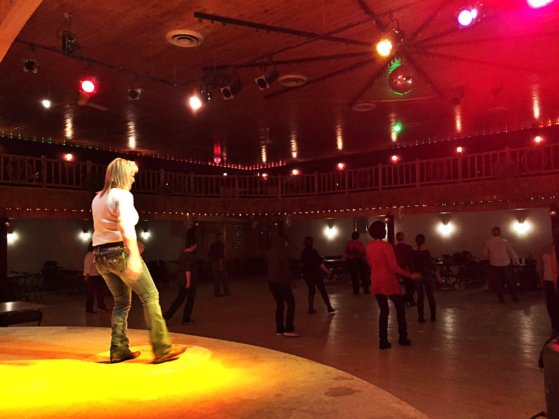 DeeDee Allen leads a line dancing lesson at The Silver Spur. Shannon Bryan photo