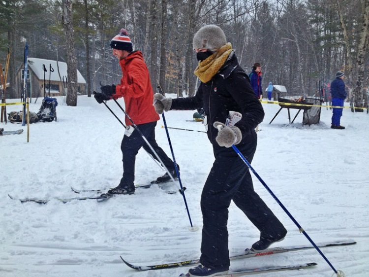 Skiers in the beginner race at the 2015 Liberal Cup Biathlon. Shannon Bryan photo