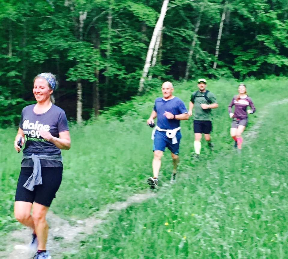 PROOF: I was trail running! Photo from Monday Night Dirt courtesy Mariah Lussier‎