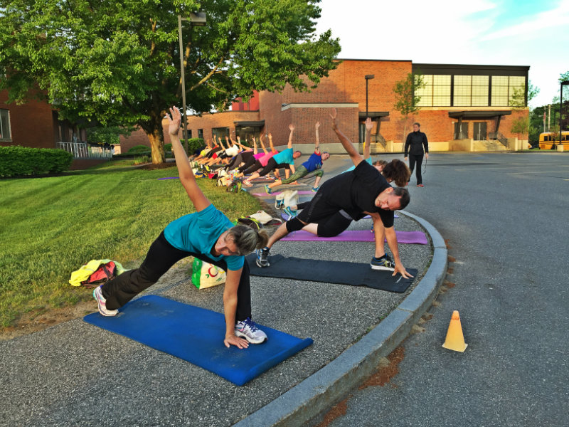 Mat work during Maine Boot Camp. Shannon Bryan photo
