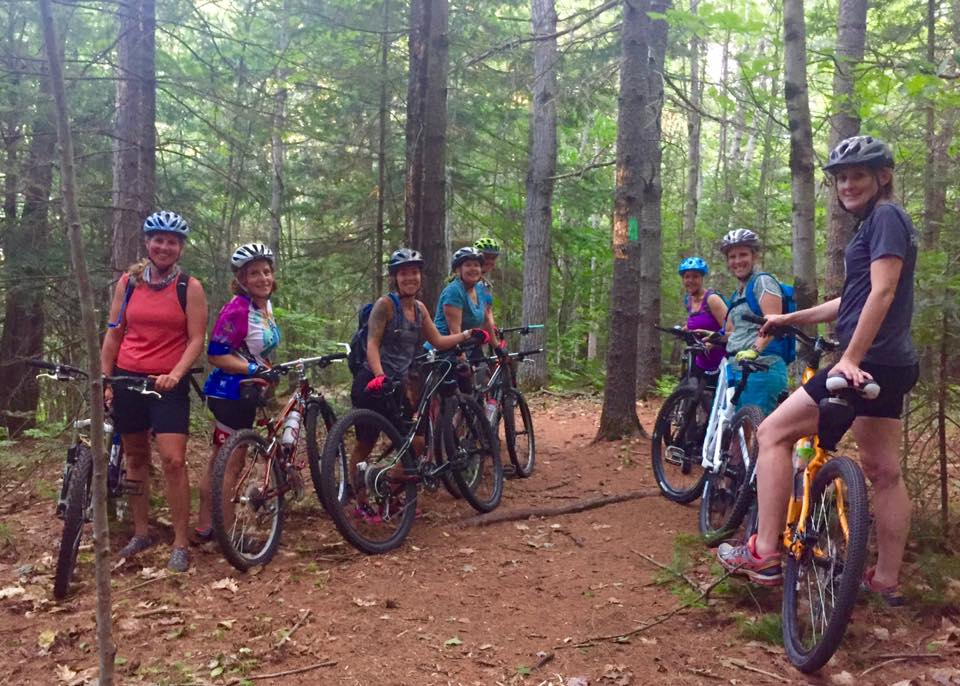 The Single Track Sisters group during a Monday night ride in August. Julie Coleman photo
