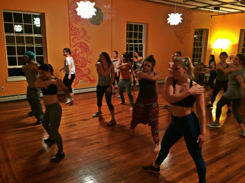 The Dancehall Hip Hop class at Hustle and Flow in Portland. That's Stephanie in the front in the gray pants. Shannon Bryan photo