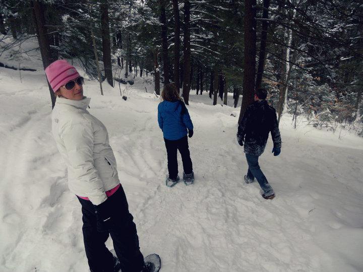A snowshoe trek on Bradbury Mountain in Pownal. Jill Newell photo