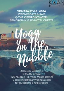 Yoga on the Nubble @ Viewpoint Hotel | York | Maine | United States