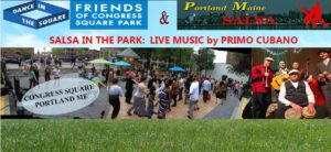 Salsa In the Park w/lesson and live music by Primo Cubano @ Congress Square Park | Portland | Maine | United States