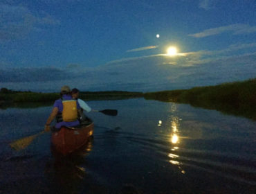 Full moon canoe