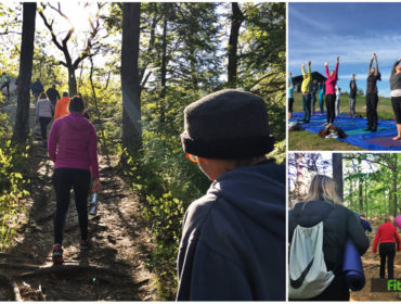 hiking yoga with yoga on york