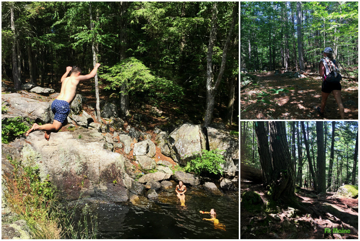 Indian's Last Leap, Sanford swimming hole