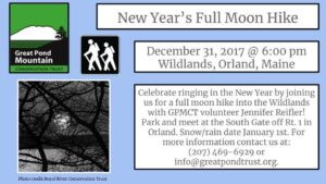New Year's Full Moon Hike @ Great Pond Mountain Convservation Trust | Bucksport | Maine | United States