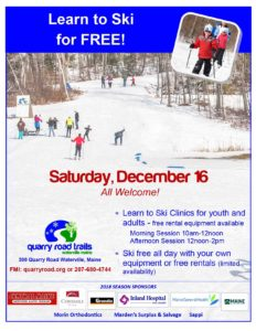 Free Skiing & Learn-to-Ski Clinics @ Quarry Road Trails | Waterville | Maine | United States