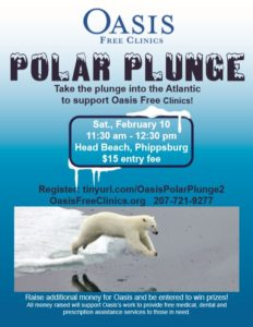 Oasis Free Clinics' Polar Plunge @ Head Beach | Phippsburg | Maine | United States