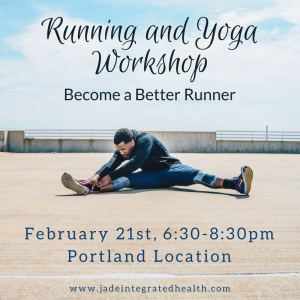 Running and Yoga Workshop @ Jade Integrated Health |  |  |