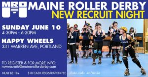 Maine Roller Derby Tryouts 2018 @ Happy Wheels Skate Center | Portland | Maine | United States