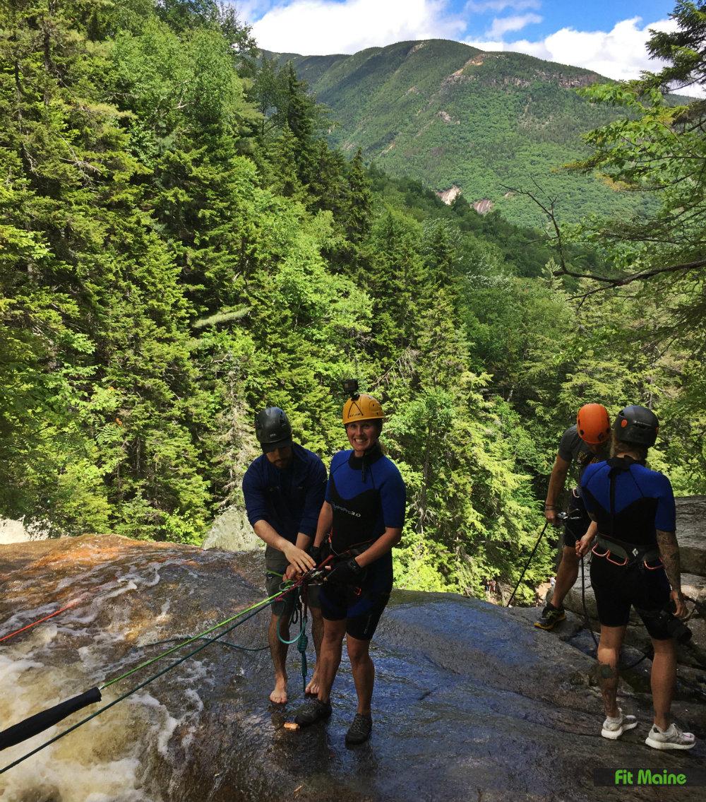 waterfall rappel ripley falls northeast mountaineering