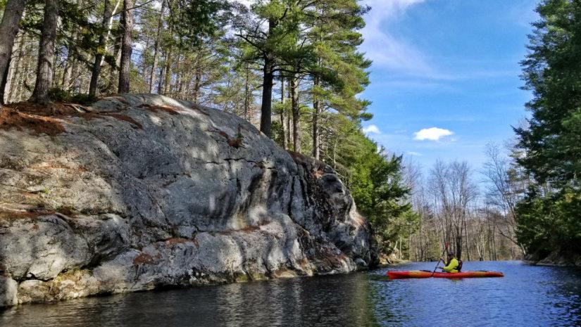 Runaround Pond Maine paddling