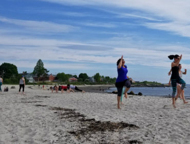 Beach Bootcamp at Willard Beach in South Portland with Fit Justice