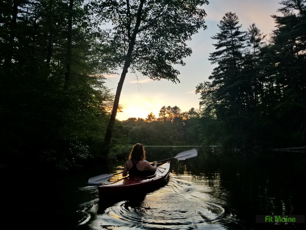 Tenny River at sunset Raymond Maine