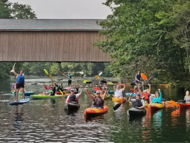 paddle and picnic on the presumpscot river in gorham maine