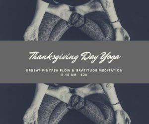 Thanksgiving Day Yoga @ Ebb and Flow Yoga | Bath | Maine | United States