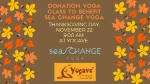 Thanksgiving Yoga at Yogave @ Yogave Generosity Yoga | Falmouth | Maine | United States