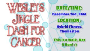 Wesley's Jingle Dash for Cancer @ Hybrid Fitness | Thomaston | Maine | United States