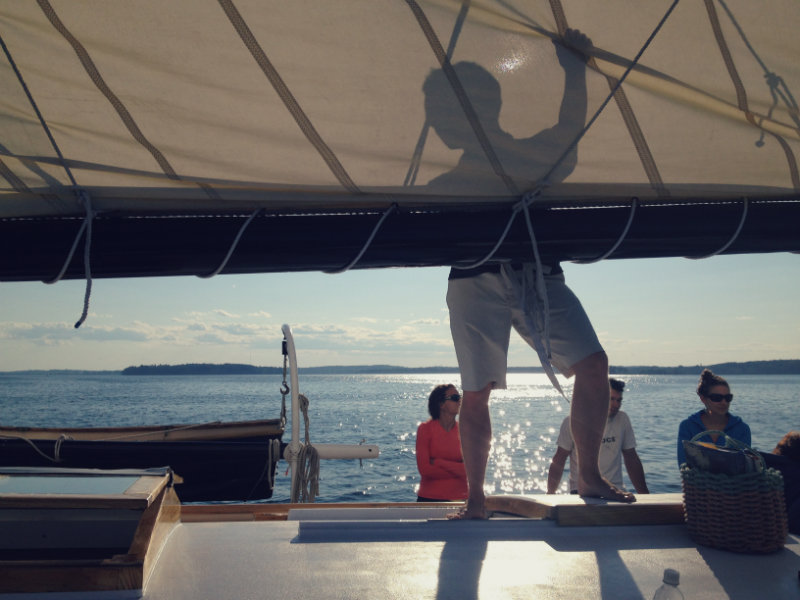 The crew takes care of the sailing while you enjoy the views.
