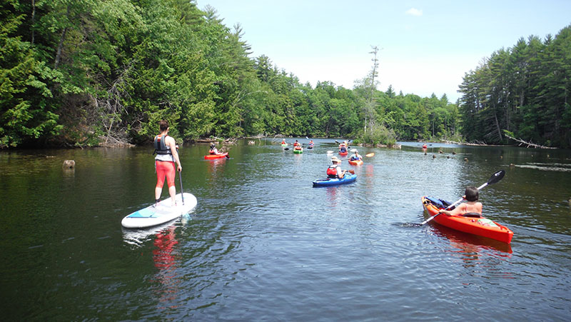 The group heads out on Pleasant River. Shannon Bryan photo