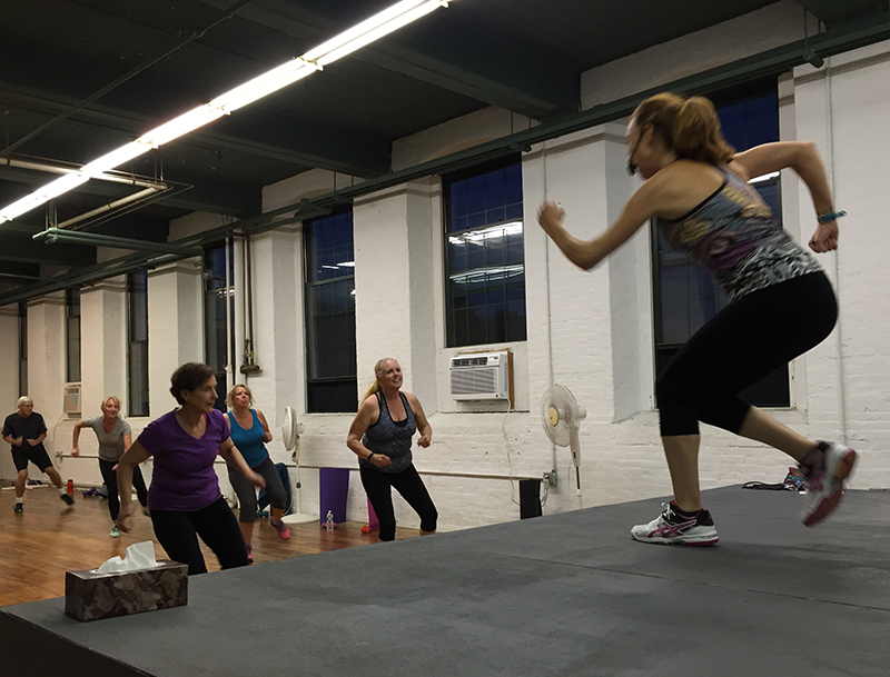 Instructor Darshana Spach leads a class at the Jazzercise Studio in Dana Warp in Westbrook. Shannon Bryan photo
