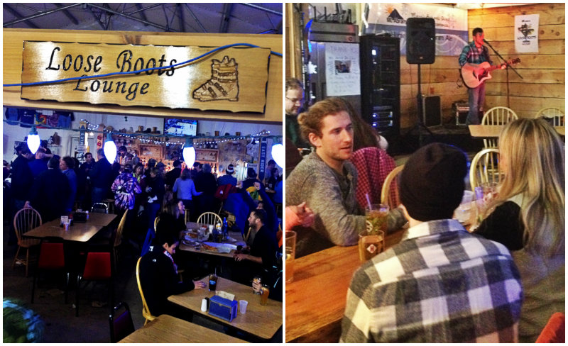 Back down at the lodge, catch live music and get a beer or food at the Loose Boots Lounge. Shannon Bryan photo