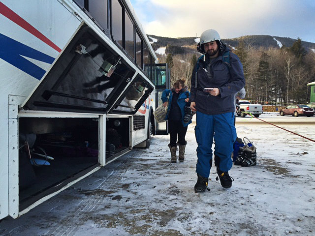 An early morning arrival at Sunday River. Shannon Bryan photo