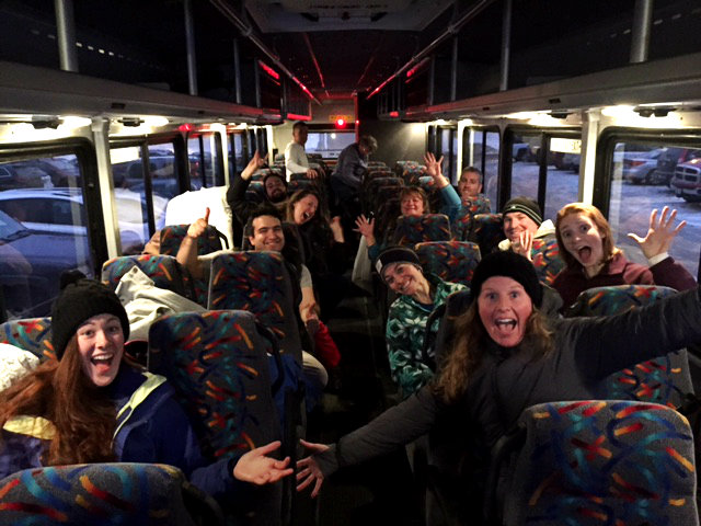 Enthusiasm on the bus! (I fell asleep 10 minutes later.) Shannon Bryan photo