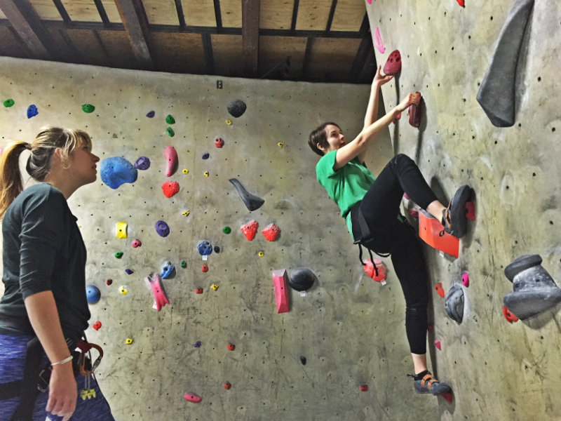 You can climb at Evo Rock + Fitness in Portland even if you're afraid of heights