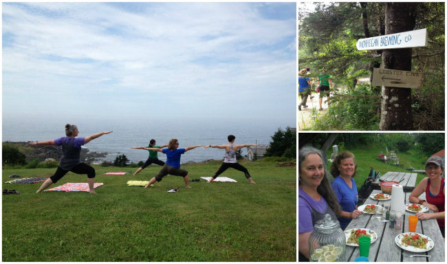 Yoga & hiking with coastal views! Shannon Bryan photos