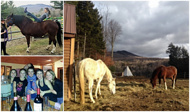 Yoga and horses! What a combination with Maine Yoga Adventures. Courtesy photos
