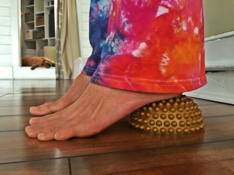 The soles of the feet and the toes get a good stretch on the foot wakers. Shannon Bryan photo