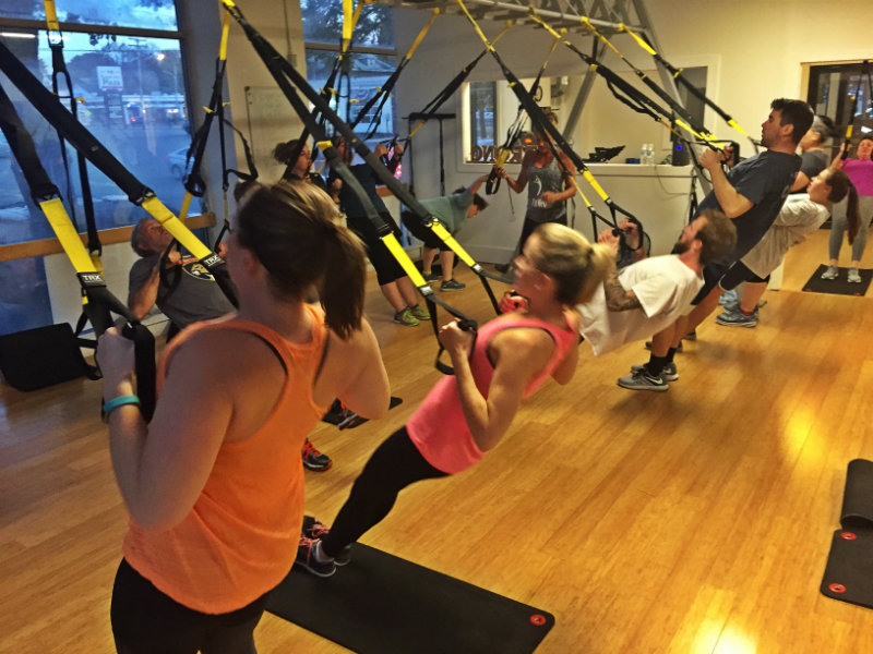 A Takeoff to TRX class at FitWell in Portland this November. Shannon Bryan photo