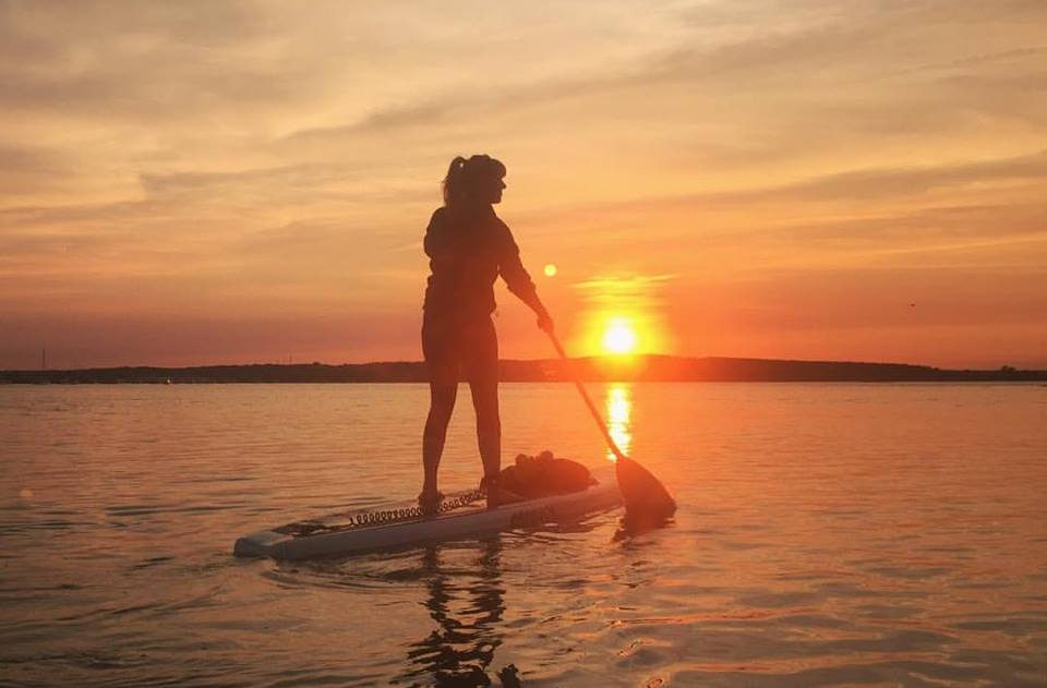 sunset paddleboard maine