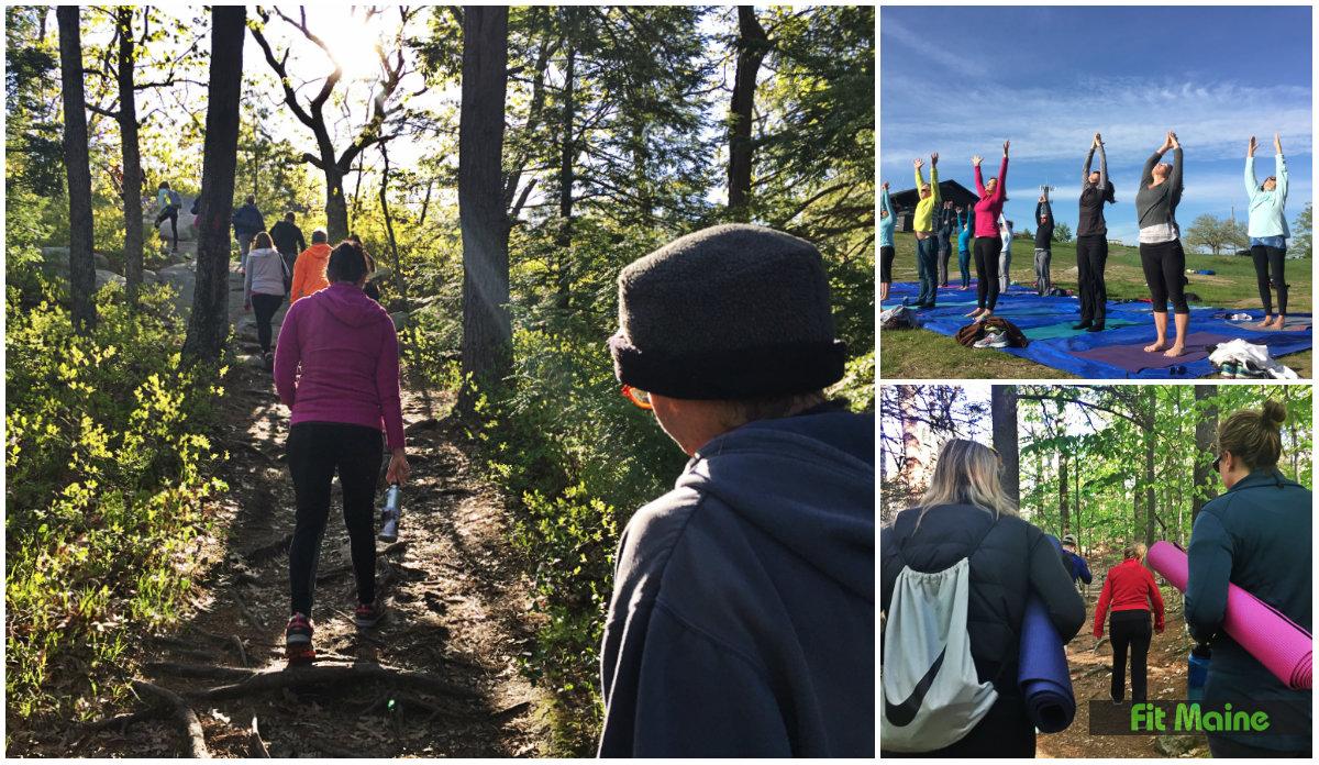 hiking yoga with yoga on york