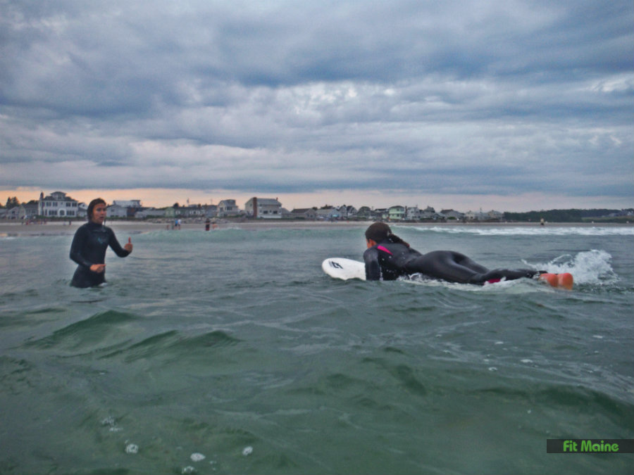 surfing lesson with Maine Surfers Union
