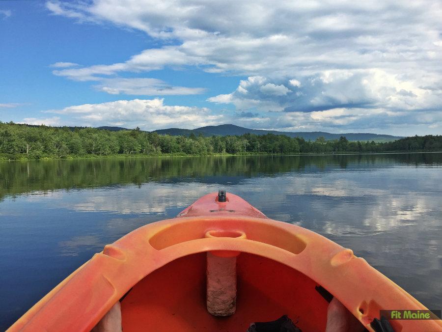 Kayaking Webb Lake Mount Blue State Park