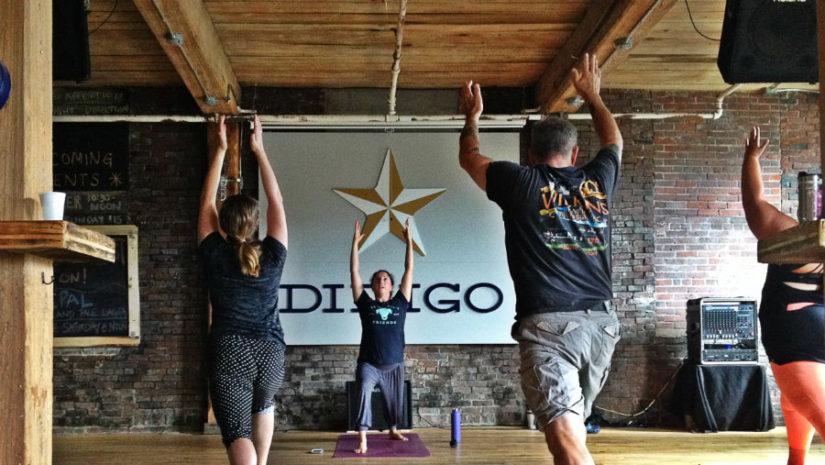 Yoga at Dirigo Brewing Co. in Biddeford