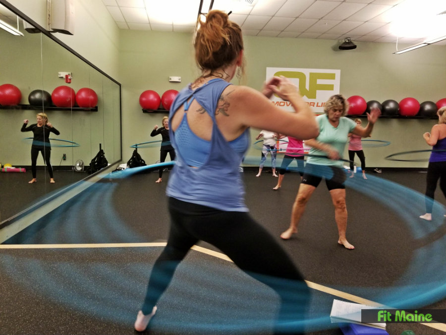Hula Hoop Fitness at Quest Fitness in Kennebunk