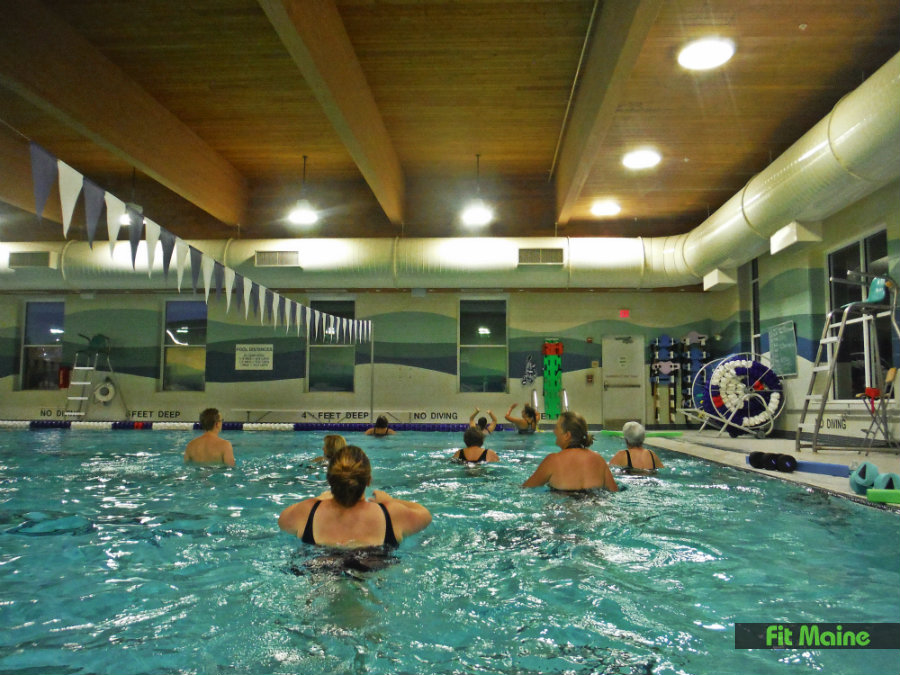 Saint Joseph College Of Maine >> Aqua Fitness Work Out In The Pool At St Joseph S College