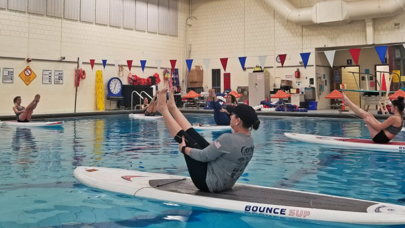 Indoor SUP yoga portland maine