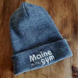 maine is my gym beanie